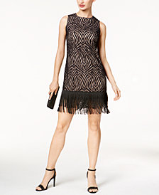 Julia Jordan Illusion Fringe Dress