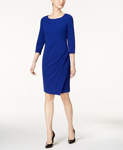 Calvin Klein Draped Sheath Dress