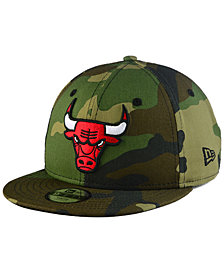New Era Boys' Chicago Bulls Woodland Team 9FIFTY Snapback Cap