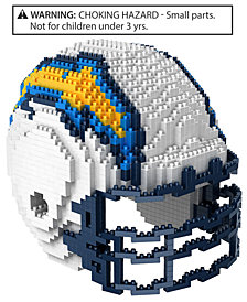 Forever Collectibles Los Angeles Chargers BRXLZ 3D Helmet Puzzle