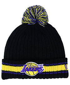 New Era Los Angeles Lakers Basic Chunky Pom Knit Hat
