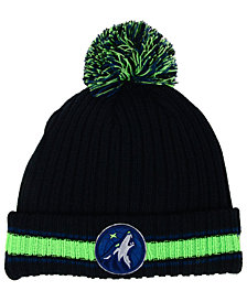 New Era Minnesota Timberwolves Basic Chunky Pom Knit Hat