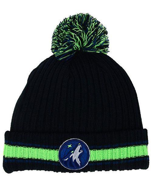 a8e900b5b New Era Minnesota Timberwolves Basic Chunky Pom Knit Hat - Sports ...