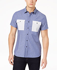 Kenneth Cole New York Men's Stripe Pocket Shirt