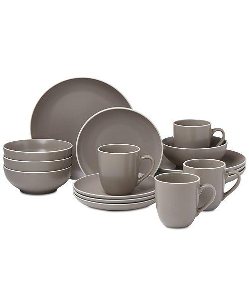 Dansk CLOSEOUT! Kisco Taupe 16-Piece Dinnerware Set