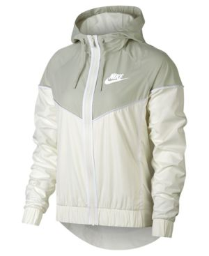 WOMEN'S SPORTSWEAR WOVEN WINDRUNNER JACKET, WHITE