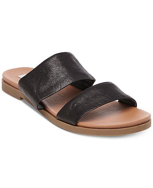 48fffa932db75 Steve Madden Women s Judy Flat Slide Sandals   Reviews - Sandals ...