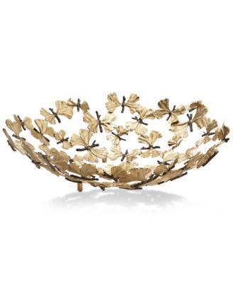 Butterfly Ginkgo Centerpiece Bowl