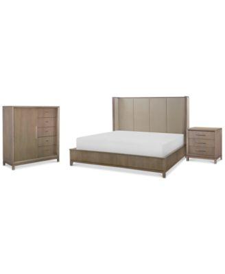 rachael ray highline bedroom furniture 3pc set upholstered shelter california king
