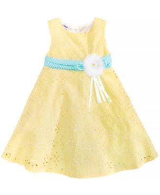 Eyelet & Ribbon Dress, Baby Girls