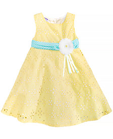 Blueberi Boulevard Eyelet & Ribbon Dress, Baby Girls