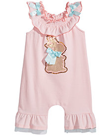 Bonnie Baby Striped Bunny Romper, Baby Girls