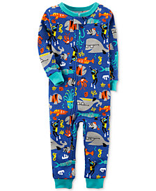 Carter's Fish-Print Cotton Pajamas, Baby Boys