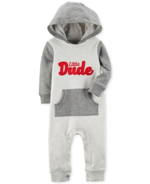 Carters Hooded Little Dude Cotton Coverall Baby Boys (024 months)