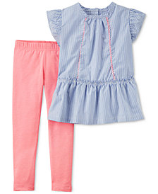 Carter's 2-Pc. Striped Tunic & Leggings Set, Baby Girls