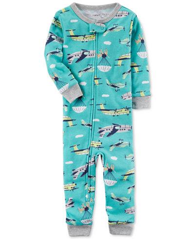 Carter's Airplane-Print Cotton Pajamas, Baby Boys