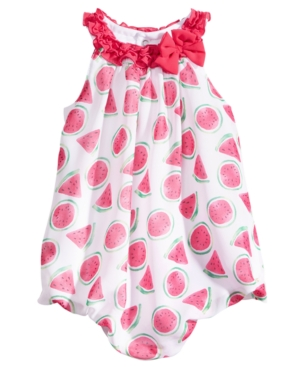 First Impressions WatermelonPrint Bubble Romper Baby Girls Created for Macys