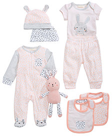 First Impressions Bunny, Hats, Bibs, Bodysuit, Pants & Coverall, Baby Girls, Created for Macy's