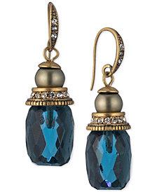 Carolee Gold-Tone Stone Drop Earrings