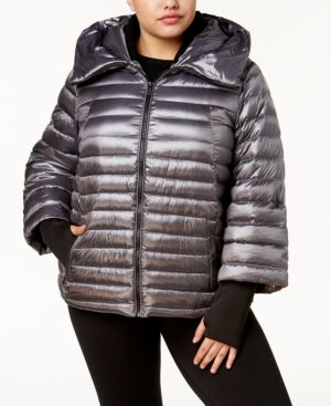 Image of Calvin Klein Performance Plus Size Hooded Puffer Jacket