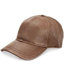 Stetson Men's Leather Baseball Cap