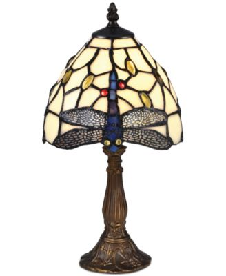 Lovely Dale Tiffany Cape Dragonfly Accent Lamp