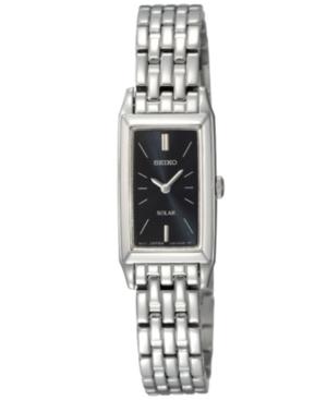 Seiko Watch, Women's Solar Stainless Steel Bracelet 15mm SUP043
