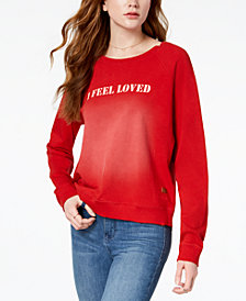 PEACE LOVE WORLD Faded I Feel Graphic Sweatshirt