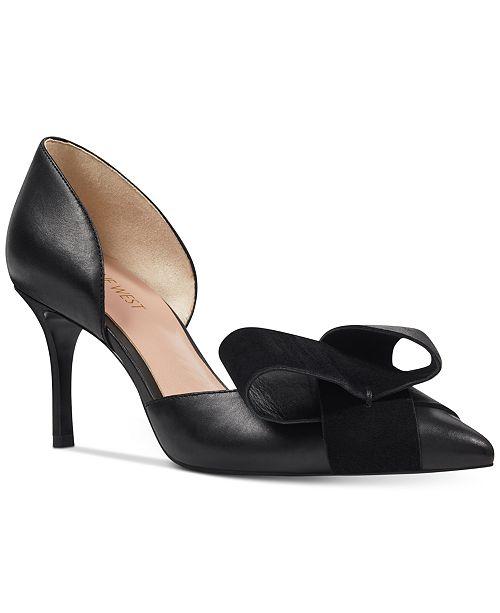 Nine West Mcfally d Orsay Bow Pumps - Pumps - Shoes - Macy s 067a4cb870