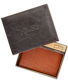 Tasso Elba Men's Leather Bridge Passcase, Created for Macy's