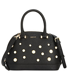 DKNY Round Pearl Satchel, Created for Macy's