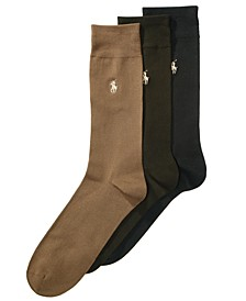 Men's 3 Pack Supersoft Dress Socks Extended Size 13-16