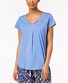 HUE® Solid Pleated Pajama Top