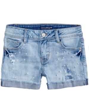 Vanilla Star PearlTrim Denim Shorts Big Girls (716)