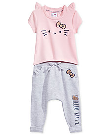 Hello Kitty 2-Pc. Ruffle Top & Leggings Set, Baby Girls