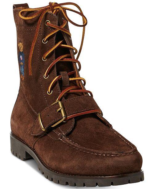 outlet store 7e30c aa6ac ... Boots  Polo Ralph Lauren Men s Ranger Polo Bear Suede ...