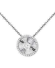 Diamond Disc Pendant Necklace (1/4 ct. t.w.) in 14k White Gold