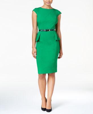 Peplum Dresses with Sleeves