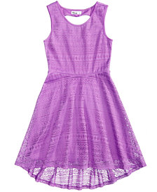 Epic Threads High-Low Hem Lace Skater Dress, Big Girls, Created for Macy's