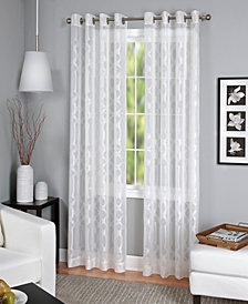 elrene latique sheer window collection - White Sheer Curtains