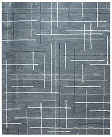 "CLOSEOUT! Hotel Collection Area Rug, City Grid CG1 8' 6"" x 11' 6"", Created for Macy's"