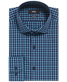 BOSS Men's Regular/Classic-Fit Windowpane Cotton Dress Shirt