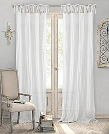Jolie Crushed Semi-Sheer Tie Top Curtain Collection