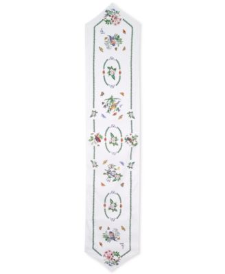 "Botanic Birds 72"" Table Runner"