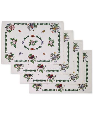 Botanic Birds 4-Pc. Placemat Set