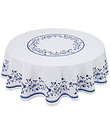 "Portmeirion Blue Portofino 70"" Round Tablecloth"