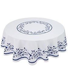 """Portmeirion Blue Portofino 70"""" Round Tablecloth"""