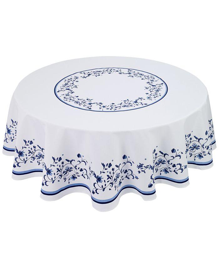 """Avanti - Blue Portofino 70"""" Round Tablecloth"""