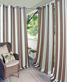 "Aiden Stripe 52"" x 84"" Indoor/Outdoor Grommet Panel with 50+ UV Protection"