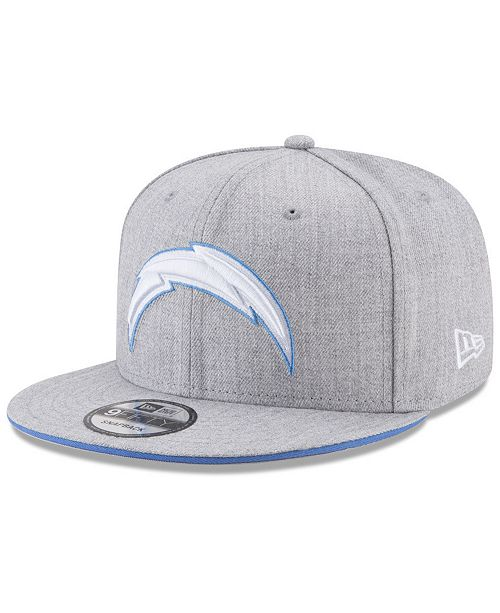 31b50048ae9 New Era Los Angeles Chargers Heather Hot 9FIFTY Snapback Cap ...